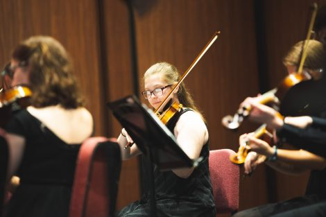 the lafayette chamber orchestra performs at the williams center for the arts