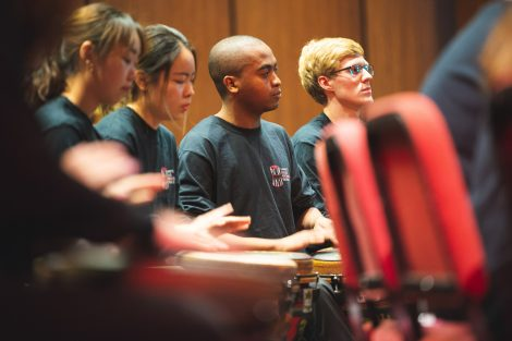 the lafayette percussion ensemble performs at the williams center for the arts
