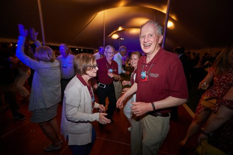 Reunion 2019: Dancing on Saturday night beneath the white tent