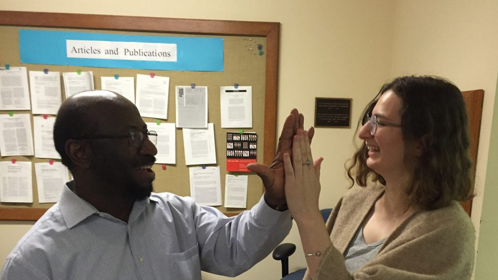 Idil Tanrisever '19, and faculty mentor Rexford Ahene