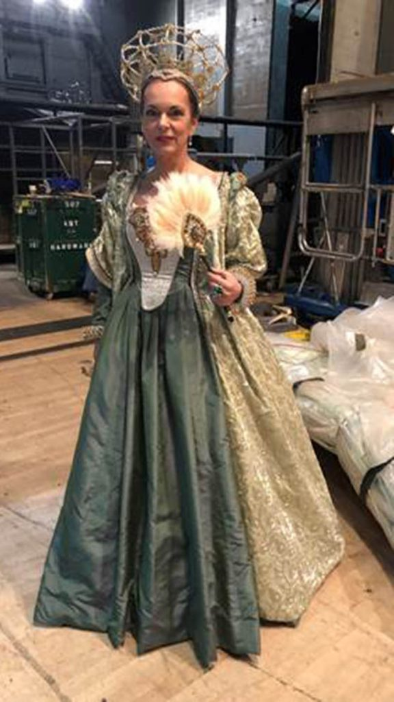 Prof Olga Anna Duhl in costume for her stand-in role of a New York City production of Swan Lake