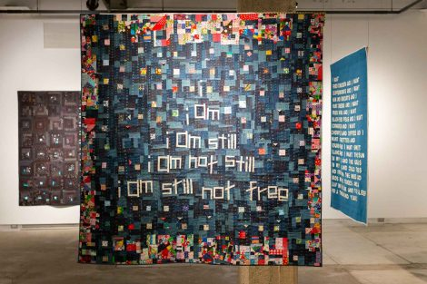 A quilt created by Chawne Kimber, professor of mathematics