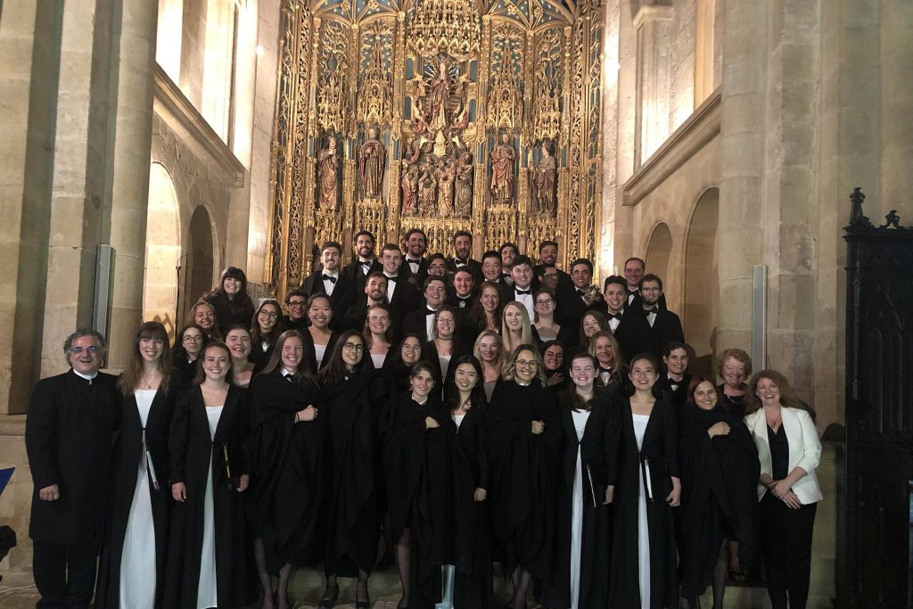 Choir group at Church in Portugal
