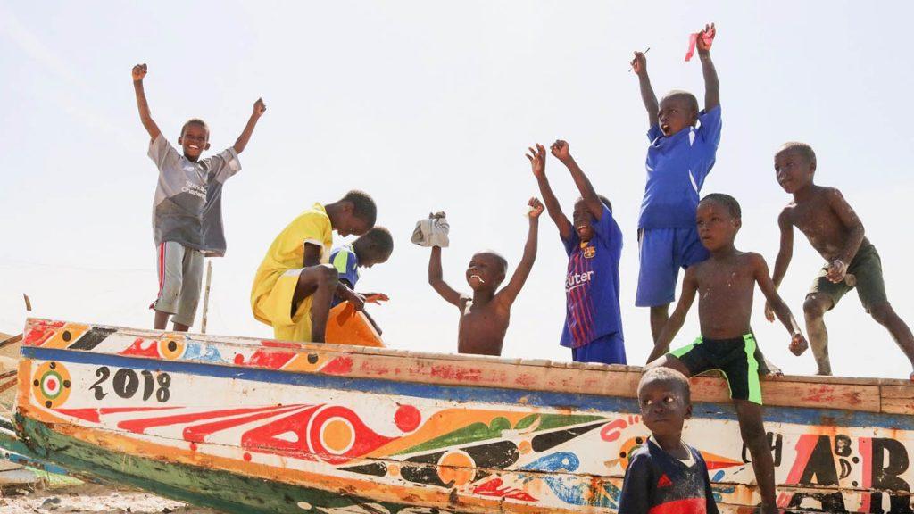 Michele Matsuoka '21 photo contest submission of children in Senegal.
