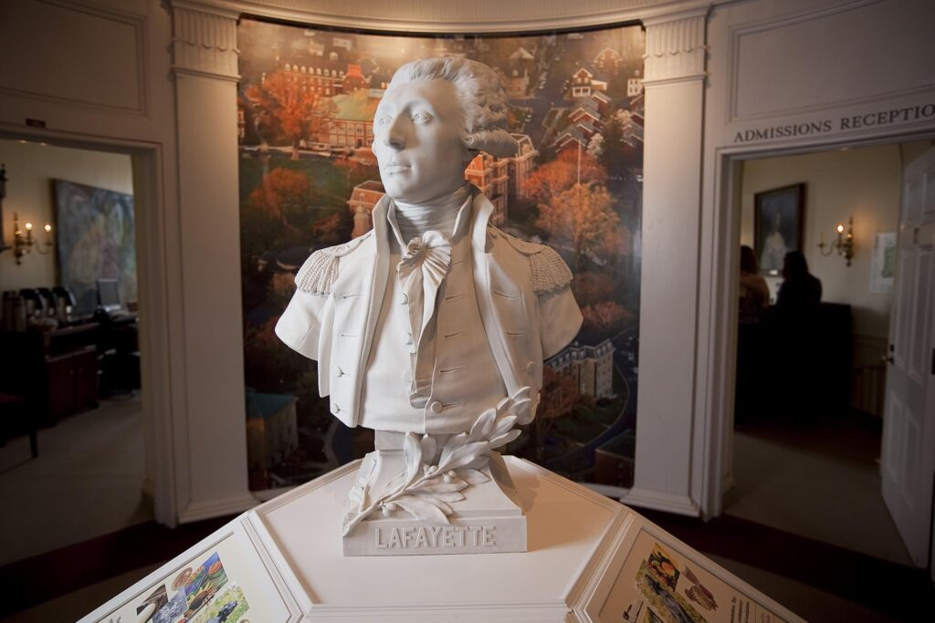 plaster cast of the bust of the Marquis de Lafayette by Jean Houdon - 1789