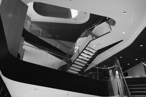 Rockwell Integrated Sciences Center staircases