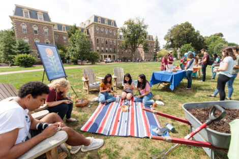 Thrive event on the Quad