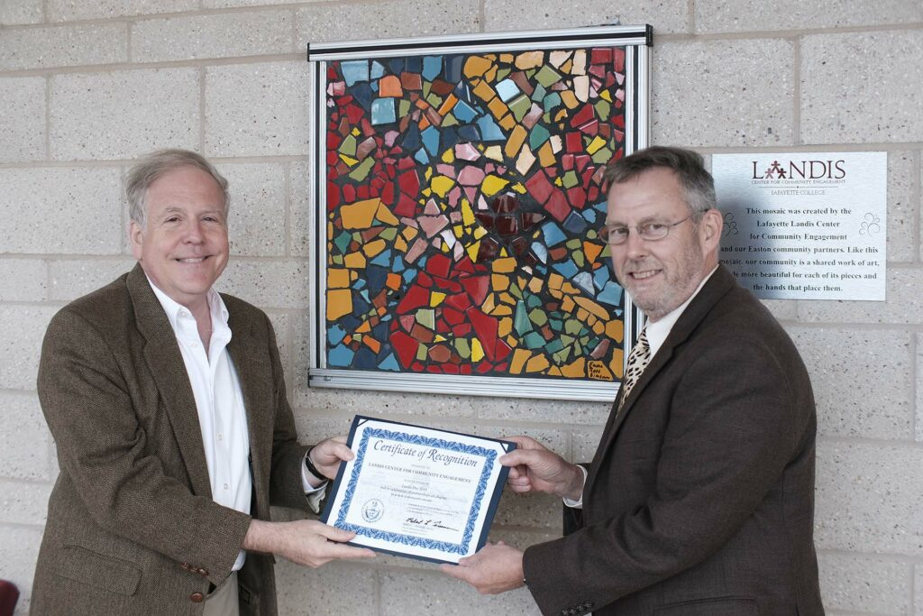 Art Kney receives certificate of recognition from state representative Bob Freeman