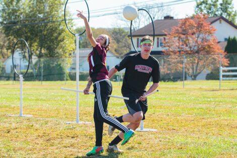 Quidditch club team plays tournament