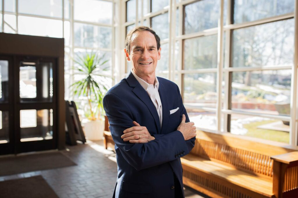 Bob Mattison in the lobby of the Williams Center for the Arts