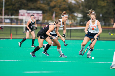 Lafayette womens field hockey against bucknell