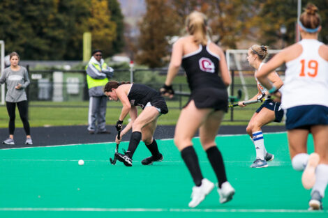 Lafayette womens field hockey against bucknell