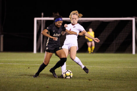 Womens soccer team facing off against army