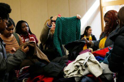 pop up thrift shop on campus