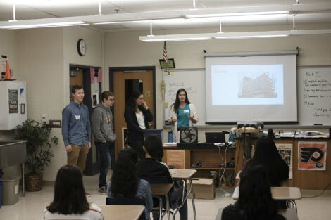 Lafayette students present lesson on load for EAHS ACE stuents