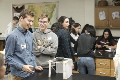Lafayette students load test their structure