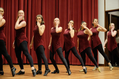 student dancers perform at the dance company showcase in colton
