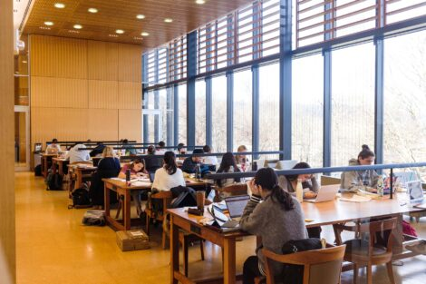 students study in skillman library