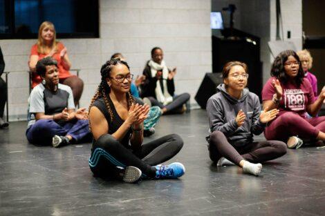 Students clap at Nobuntu workshop