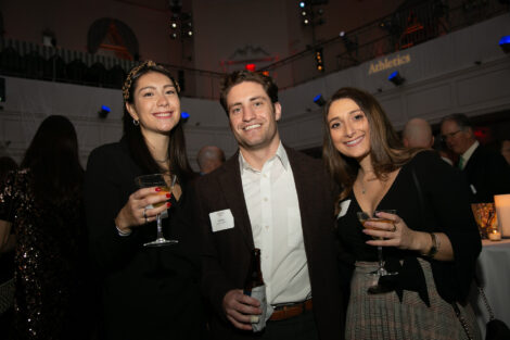 Alumni, students, and friends of the college gather to celebrate the holidays in new york