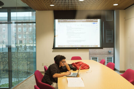 a student studies in risc