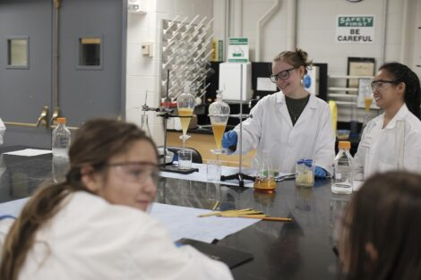 Lafayette student readies bio fuel materials