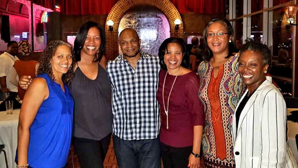 Kareema J. Gray, Ph.D., '94 with members of ABC in 2018