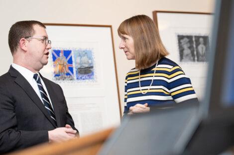 Stuart Delery with President Alison Byerly