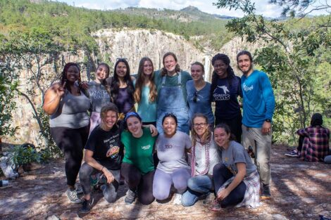 A group of students in Honduras