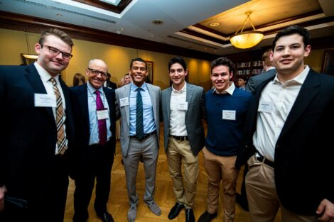 Alums gather with students at Networking Nights.