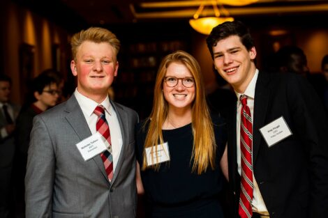 Students smile for Networking Nights