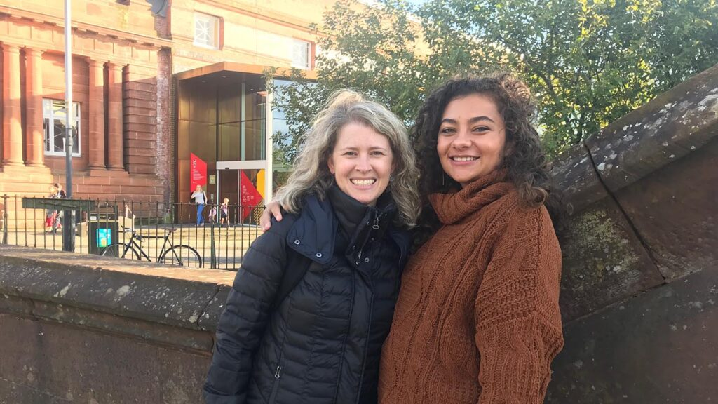 Prof. Carrie Rohman and Devon Clifton in Scotland together