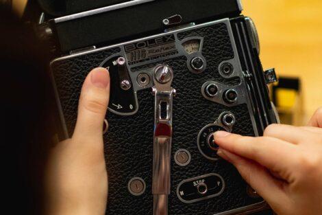 Students make adjustments to camera