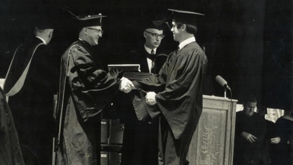 John Delfausse at his 1969 Lafayette graduation