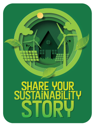Share your sustainability story graphic