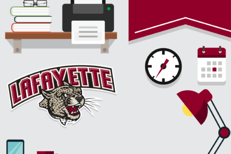 Lafayette athletics zoom graphic