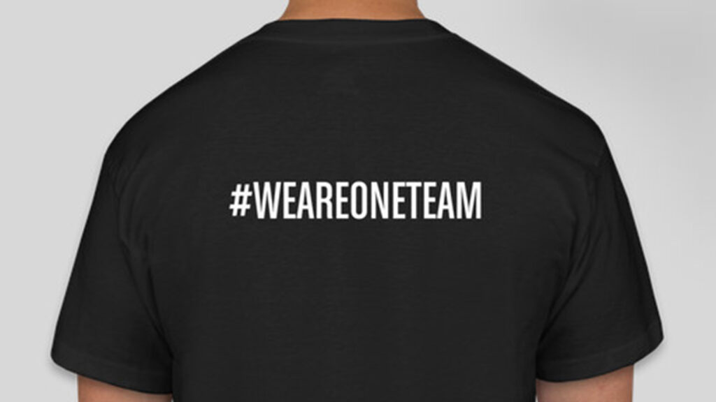 We Are One Team T-shirt