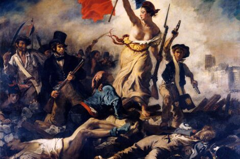 """Eugene Delacroix 's painting """"Liberty Leading the People"""""""