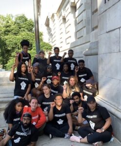 Savanna Toure '21 with members of Freedom Fighters DC