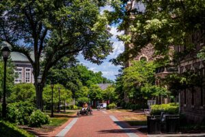 Summer, Maintenance, Mowing the Lawn, Pardee Hall,