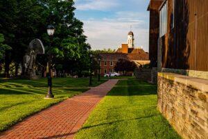 Campus Scenic, Empty Campus, Summer, Kriby Hall, Skillman Library,