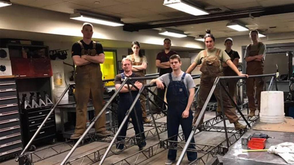 members of the Steel Bridge team in February