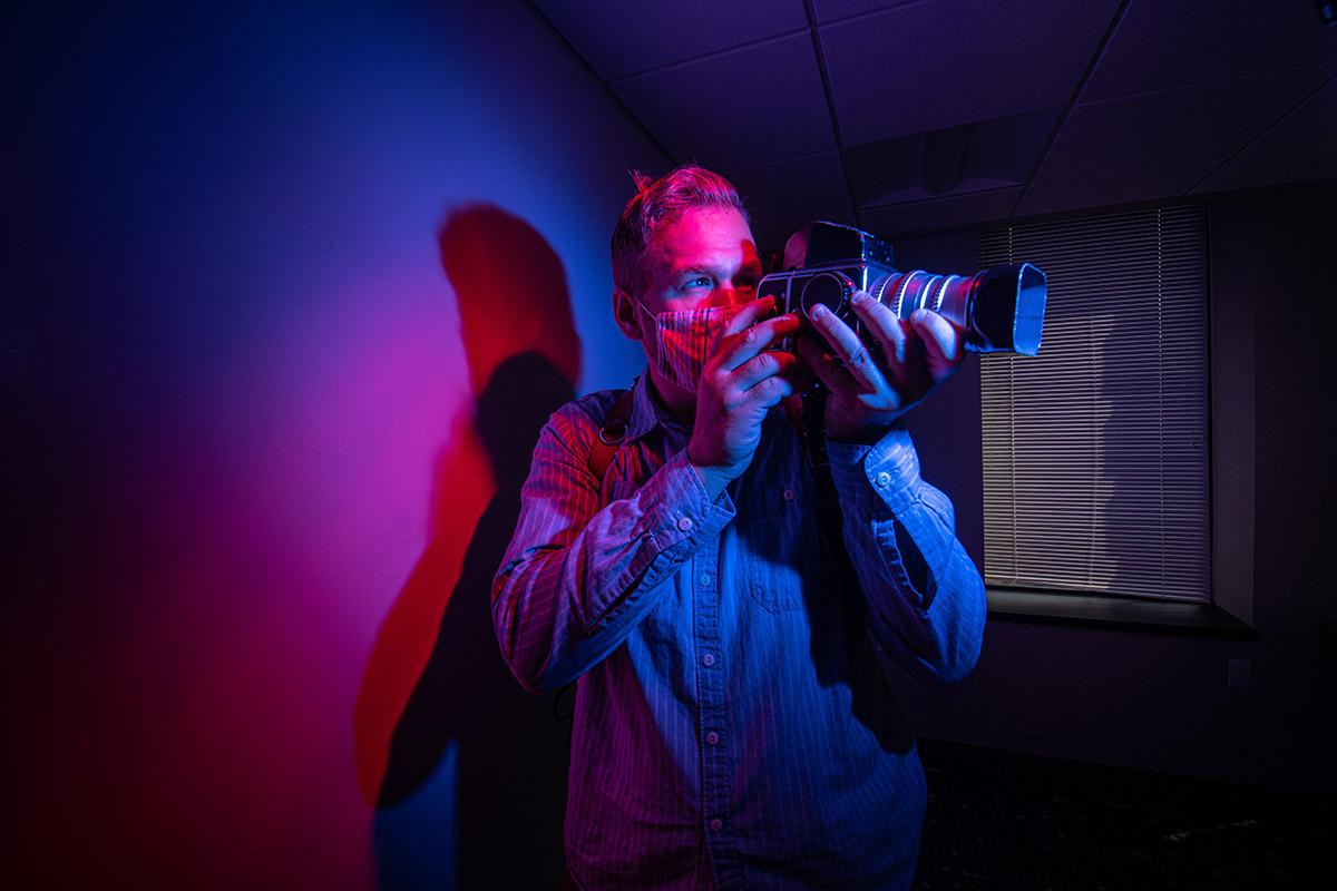 Adam Atkinson with his camera