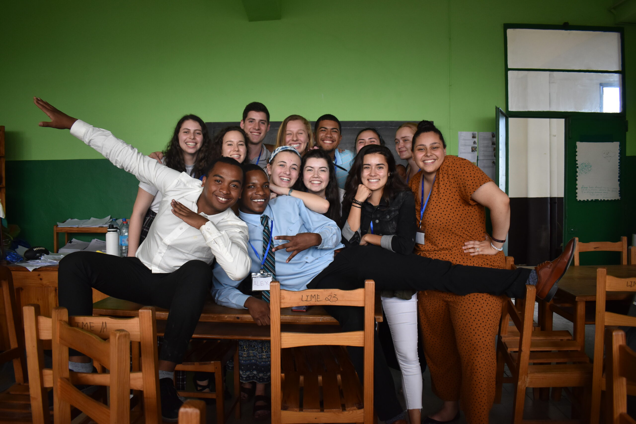 Lafayette students work as peer mentors at Madagascar high school as part of the LIME program.