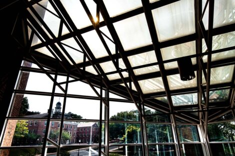 View from the windows of Williams Center for the Arts