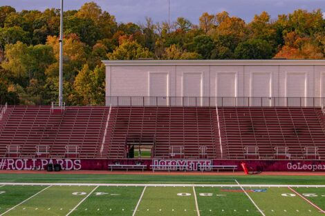 empty stadium at Fisher Field