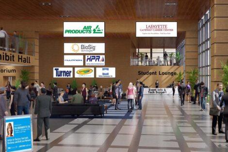 Entrance hall in the virtual career fair