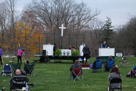 Outdoor church service