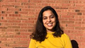 Swati Pandey smiles