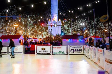 downtown Easton's new outdoor skating rink
